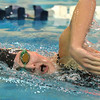 Monarch's Morgan Commander swims in the 500 yard freestyle during the dual meet between Monarch and Legacy at the Veterans Memorial Aquatic Center in Thornton on Thursday.<br /> December 20, 2012<br /> staff photo/ David R. Jennings
