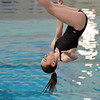 Monarch's Grace Newell makes a dive during the dual meet between Monarch and Legacy at the Veterans Memorial Aquatic Center in Thornton on Thursday.<br /> December 20, 2012<br /> staff photo/ David R. Jennings