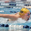 Legacy's Mary Lombardi swims the butterfly in the 200 yard medley relay during the dual meet between Monarch and Legacy at the Veterans Memorial Aquatic Center in Thornton on Thursday.<br /> December 20, 2012<br /> staff photo/ David R. Jennings