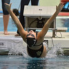 Monarch's Amanda Sanders goes off the starting blocks in the 100 yard backstroke during the dual meet between Monarch and Legacy at the Veterans Memorial Aquatic Center in Thornton on Thursday.<br /> December 20, 2012<br /> staff photo/ David R. Jennings