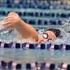 Monarch's Amanda Sanders swims in the 200 yard freestyle during the dual meet between Monarch and Legacy at the Veterans Memorial Aquatic Center in Thornton on Thursday.<br /> December 20, 2012<br /> staff photo/ David R. Jennings