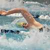 Legacy's Katie Metzler swims in the 100 yard freestyle during the dual meet between Monarch and Legacy at the Veterans Memorial Aquatic Center in Thornton on Thursday.<br /> December 20, 2012<br /> staff photo/ David R. Jennings