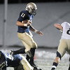 Jake Levin, Legacy, works his way through the Mullen line during Friday's game at North Stadium.<br /> <br /> November 13, 2009<br /> Staff photo/David R. Jennings