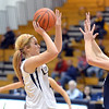 Legacy's Bree Paulson shoots to the basket  against Air Academy  during Thursday's game at Legacy.<br /> <br /> December 13, 2012<br /> staff photo/ David R. Jennings