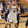 Legacy's Emiley Lopez goes to the basket against   Air Academy  during Thursday's game at Legacy.<br /> <br /> December 13, 2012<br /> staff photo/ David R. Jennings