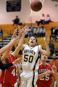 Legacy's Phillip Kee rebounds the ball from Brighton during Wednesday's game at Legacy. January 27, 2010 Staff photo/David R. Jennings