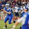The Eagle's quarterback Angelo Perez passes against Legacy  during the Broomfield vs. Legacy football game at Elizabeth Kennedy Stadium on Friday.<br /> September 7, 2012<br /> staff photo/ David R. Jennings