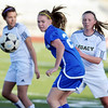Broomfield's Katie Forsee goes after the ball against Legacy during Thursday's game at North Stadium.<br /> <br /> March 15,  2012 <br /> staff photo/ David R. Jennings