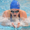 Broomfield's Katalena Laufasa-Duncan swims the breast stroke in the 200 yard IM event during Tuesday's Legacy vs. Broomfield swim meet at the Veterans Memorial Aquatic Center in Thornton.<br /> <br /> January 25, 2011<br /> staff photo/David R. Jennings