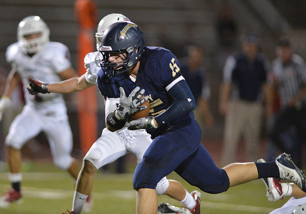 Legacy's Jake Bublitz runs the ball downfield against Chaparral during Friday's game at North Stadium.<br /> September 14, 2012<br /> staff photo/ David R. Jennings