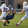 Legacy's Phydell Paris tries to avoid Chaparral's Bibo Chandlar and Keenan Foshe during Friday's game at North Stadium.<br /> September 14, 2012<br /> staff photo/ David R. Jennings