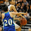 Legacy's Kailey Edwards goes to the basket against Doherty's Angela Vigil during Saturday's state 5A playoff game at Legacy.<br /> February 27, 2010<br /> Staff photo/David R. Jennings