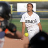 Legacy's Rainey Gaffin pitches against Erie during Friday's game at the Erie Festival of Champions softball tournament.<br /> <br /> September 2, 2011<br /> staff photo/ David R. Jennings
