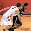Legacy's Marcus Riddick drives the ball downcourt against Fairview's Holden Killeen during Thursday's game at Fairview.<br /> February 2, 2012<br /> staff photo/ David R. Jennings