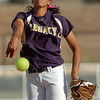 Rainey Gaffin pitches against Fruita Monument during the state softball tournament at the Aurora Sparts Park on Friday.<br /> October 21, 2011<br /> staff photo/ David R. Jennings