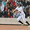 Loveland's Colissa Bakovich hit the ball against Legacy during Saturday's state semi final 5A softball championship game at Aurora Sports Park.<br /> <br /> October 20, 2012<br /> staff photo/ David R. Jennings