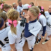 The Legacy team gives a cheer at home plate after loosing to Loveland in Saturday's state semi final softball championships at Aurora Sports Park.<br /> October 19, 2012<br /> staff photo/ David R. Jennings