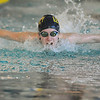 Legacy's Kayla Stuckey swimming the butterfly in the 200 meter IM event  during the meet against Monarch at the Louisville Recreation Center on Friday.<br /> <br /> <br /> January 15, 2010<br /> Staff photo/David R. Jennings