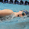 Legacy's Fiona Dretska begins a turn while swimming in the 500 yard freestyle during the swim meet against Mountain Range at the Veteran's Memorial Aquatic Center on Thursday.<br /> For more photos please see the broomfieldenterprise.com<br /> December 1, 2011<br /> staff photo/ David R. Jennings