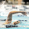Legacy's Elysia Hartojo swims in the 100 yard freestyle during the swim meet against Mountain Range at the Veteran's Memorial Aquatic Center on Thursday.<br /> For more photos please see the broomfieldenterprise.com<br /> December 1, 2011<br /> staff photo/ David R. Jennings
