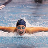 Legacy's Elysia Hartojo swims in the 100 yard butterfly during the swim meet against Mountain Range at the Veteran's Memorial Aquatic Center pool on Thursday.<br /> For more photos please see the broomfieldenterprise.com<br /> December 1, 2011<br /> staff photo/ David R. Jennings
