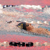Legacy's Danielle Garside swims in the 100 yard backstroke during the swim meet against Mountain Range at the Veteran's Memorial Aquatic Center on Thursday.<br /> For more photos please see the broomfieldenterprise.com<br /> December 1, 2011<br /> staff photo/ David R. Jennings