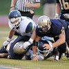 Legacy's Austin Yurko scrambles after a loose ball from Overland during Thursday's game at North Stadium.<br /> September 1, 2011<br /> staff photo/ David R. Jennings