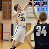 Legacy's Jacob Royer reaches to intercept a high pass  from Fossil Ridge during Thursday's game at Legacy. <br /> January 27, 2013<br /> staff photo/ David R. Jennings