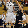 Legacy's Dalton Royer shoots the ball against Fossil Ridge during Thursday's game at Legacy. <br /> January 27, 2013<br /> staff photo/ David R. Jennings