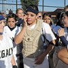 Buggs Torrez, center, Legacy's catcher cries tears of joy after the team won it's 4th state 5A softball championship on Saturday at the Aurora Sports Complex. Legacy defeated Rock Canyon 5-2.<br /> <br /> October 23, 2010<br /> staff photo/David R. Jennings