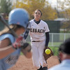 Legacy pitcher Rainey Gaffin throws against Ralston Valley during the state semi final 5A softball championship game on Saturday at the Aurora Sports Complex. <br /> <br /> October 23, 2010<br /> staff photo/David R. Jennings