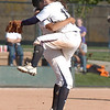 Legacy's short stop Jessica Ball leaps into the arms of pitcher Rainey Gaffin after winning the team's 4th state 5A softball championship on Saturday at the Aurora Sports Complex. Legacy defeated Rock Canyon 5-2.<br /> <br /> October 23, 2010<br /> staff photo/David R. Jennings