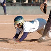 Jessica Ball, Legacy, slides safely back to first base during Saturday's championship game against Rock Canyon at the Aurora Sports Complex. <br /> <br /> October 23, 2010<br /> staff photo/David R. Jennings