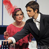 "Audrey Felderman as Mrs. Trottendale looks at Paul Hunter as Underling her butler during Friday's rehearsal of Legacy High's production of ""The Drowsy Chaperone"".<br /> February 4, 2011<br /> staff photo/David R. Jennings"