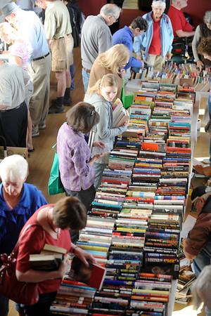 Hundreds of people shop for bargain books at the  Broomfield Library Friends book sale at the Mame Doud Eisenhower Public Library on Saturday.  <br /> March 31, 2012 <br /> staff photo/ David R. Jennings