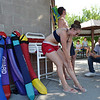 Kelsey Cordutsky, 18, applies sunscreen before beginning  her  lifeguard duties at The Bay Aquatic Center on Friday.<br /> <br /> July 13, 2012<br /> staff photo/ David R. Jennings