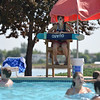 Lifeguard Megan Claussen, 20, watches adults and children playing in the big  pool at The Bay Aquatic Center on Friday.<br /> <br /> July 13, 2012<br /> staff photo/ David R. Jennings