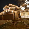 The holiday lighting display at 4872 W. 123rd Place may be all white lights buts presents show which the lights are synced with the music broadcast to car radios.  <br /> December 6, 2012<br /> staff photo/ David R. Jennings