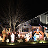 Holiday lighting display at 1100 Larch Ct. in Broomfield, is made of hand painted characters.<br /> December 6, 2012<br /> staff photo/ David R. Jennings