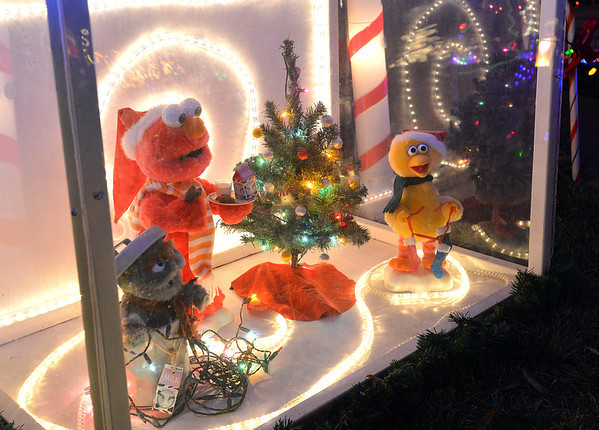 Sesame Street characters on display in the holiday lighting display at 155 Hemlock St. in Broomfield.<br /> December 6, 2012<br /> staff photo/ David R. Jennings
