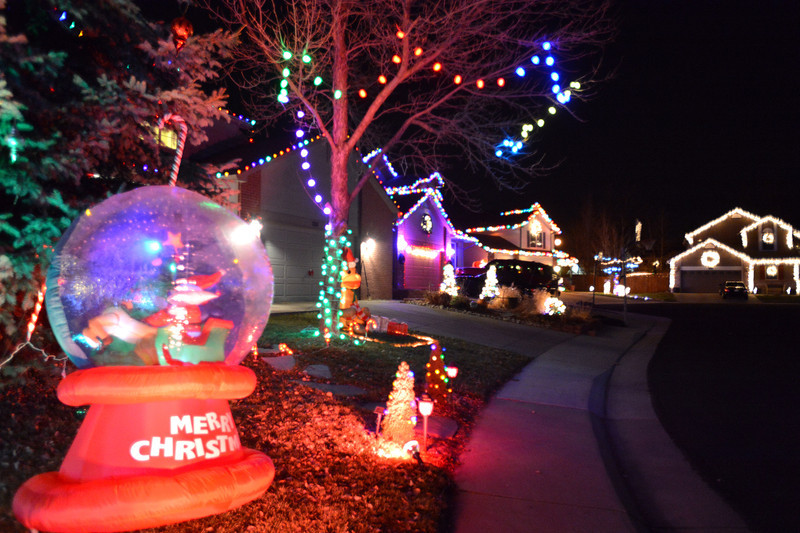 Holiday lighting display's on houses in the Northridge neighborhood at 12th Ave. and Dover Ct. in Broomfield.<br /> December 6, 2012<br /> staff photo/ David R. Jennings