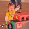 Alice Walker, 3, waves at the train in the 1188 Clubhouse Drive holiday lighting display in Broomfield.<br /> December 6, 2012<br /> staff photo/ David R. Jennings