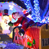 Santa rides on the mailbox leading the balloons and inflatables which adorn the holiday lighting display at 1201 Dexter St. in Broomfield.<br /> December 6, 2012<br /> staff photo/ David R. Jennings