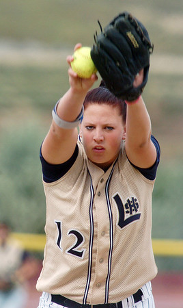 Pitcher Shelby Babcock, Legacy throws against Shiatook, OK,  during the Erie Tournament at Stazio Ballfields in Boulder on Friday.<br /> <br /> Sept. 4, 2009<br /> Staff photo/David R. Jennings