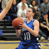 Bre Wilber, Broomfield stops to shoot the ball against Longmont during Tuesday's game at Longmont High.<br /> <br /> February 8, 2011<br /> staff photo/David R. Jennings