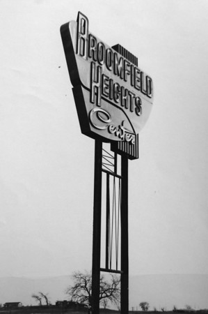 Broomfeild Heights Center sign 1958.<br /> <br /> courtesy of Depot Hill Museum