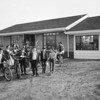 Children pose in front of Broomfield's first cottage school in 1956.<br /> <br /> <br /> courtesy of the Depot Hill Museum