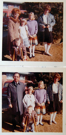 Bob and Ottilie Seeber pose with their children in the 1960's. Bob took the top picture and Ottilie took the bottom picture.<br /> <br /> <br /> courtesy of the Seeber family