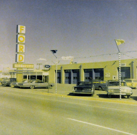 The original location of Sill Terhar Ford dealership in May of 1960.<br /> <br /> <br /> courtesy of Sill Tehar Motors