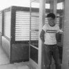 Rob Winters at phone booth at the Broomfield swim club in 1960.<br /> <br /> <br /> courtesy of Renee Kozisek